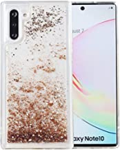 Galaxy Note 10 Case, Note10 5G Case, iYCK Soft TPU Bumper and Hard Back Panel Flowing Floating Liquid Infused Bling Glitter Sparkle Protective Case Cover for Samsung Galaxy Note 10 6.3inch - Gold