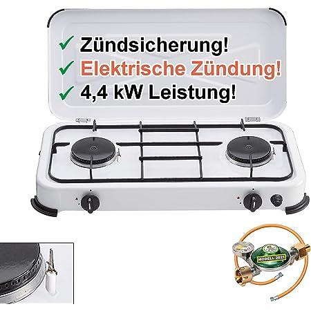 Camping Gaskocher Kocher Faltbar Mini Gasherd Herd Outdoor  Zündung  3-stufiger