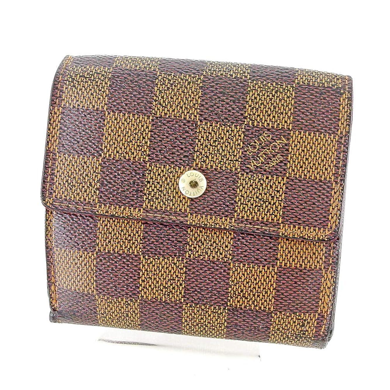 明示的に男らしい興奮するルイ ヴィトン Louis Vuitton Wホック 財布 三つ折り レディース メンズ ポルトフォイユエリーズ N61654 ダミエ 中古 B1038