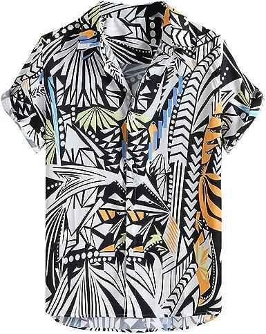 FossenHom Camisas Hawaianas Hombre Baratas de Manga Corta con ...
