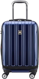 "DELSEY Paris Helium Aero International Carry on Expandable Spinner Trolley - 19"", Cobalt Blue (Blue) - 7640BD"