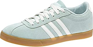 adidas Womens Courtset Trainers Sneakers in ash Green/Cloud White.