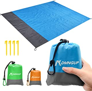 Beach Blanket Sand Proof & Compact Pocket Blanket Soft Drying Ripstop Nylon Beach Mat for Outdoor, Waterproof Picnic Mat for Travel, Hiking, Camping, Festival,Super Large Beach Mat Perfect for Family