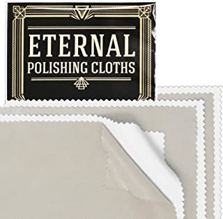 Eternal Polishing Cloth Set Removes Tarnish and Protects Jewelry, Watch, Coin, Silver, Gold (3 Sets)