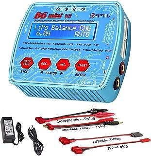ZHITING Cargador LiPo 1-6S AC/DC Dual Power 80W 7A Digital B6Mini V2 RC Descargador de Equilibrio para Li-Ion Life NiCd Ni...