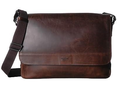 Shinola Detroit Slim Messenger (Medium Brown) Bags
