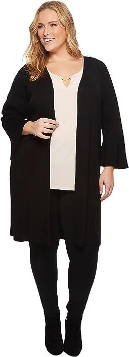 Calvin Klein Plus - Plus Size Long Flare Sleeve Cardigan