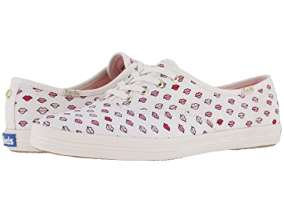 Keds x kate spade new york Champion Twill Lips (White) Women