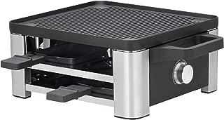 WMF 福腾宝 Lono Raclette 烧烤炉 可容纳 4 人 带平底锅和推杆 870 W cromargan 亚光/银色