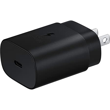 Samsung 25W USB-C Super Fast Charging Wall Charger (USB-C Cable is NOT included)- Black (US Version with Warranty)