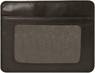 Travelon RFID Leather Cash and Card Sleeve, Brown, One Size