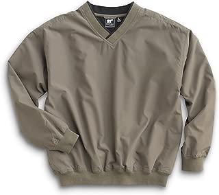 Men's Fully Lined V-Neck Golf and Wind Shirt - Loden/Black, Medium