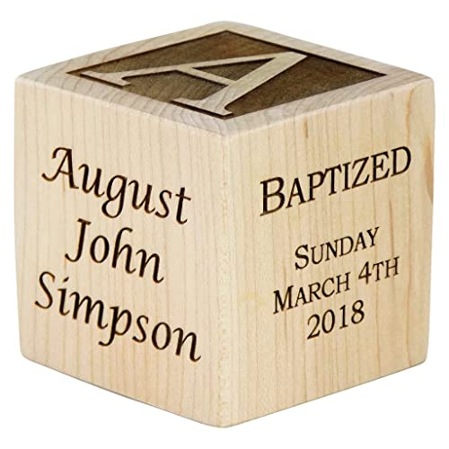 Personalized Baby Baptism Gifts, Baptism Gift For Boy, Girl, Baptism Wood Block,