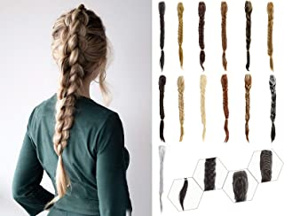 Hebelin Ponytail Fishtail Braid Extension 21 Inch Clip on in Claw Jaw Synthetic Ponytail Hairpieces