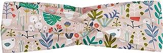 Sponsored Ad - Ambesonne Botanic Headband, Monstera Bluebells Tropical Birds Banana Palms Tulip Fern Leaf Herbs Childish, ...