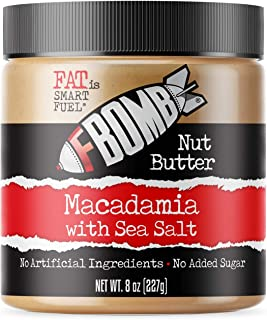 Fbomb Macadamia Nut Butter: Keto Fat Bombs, Natural Roasted Macadamia Nuts   High Fat, Low Carb Snack, High Quality Energy...