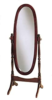 Crown Mark Cheval Mirror, Brown (Cherry Oval)