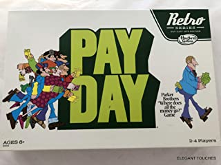 Hasbro Retro Series Payday Board Game, 1975 Edition – Where Does All The Money Go, The Game of Handling Finances – Ideal B...