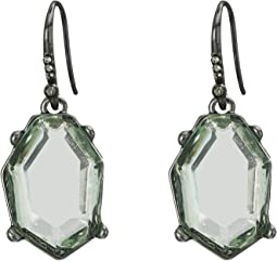 Irregular Stone Drop Earrings