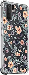 Oihxse Shockproof Case Compatible for Huawei Honor 20 Clear Back with Design, Soft Silicone TPU Ultra Thin Slim Fit Chic [Air Cushion] Corners Protection Crystal Transparent Cover(Floral)