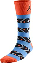 Jordan AJXI Riverwalk Crew 1 Men's Socks Electro Orange/Blue/Black Size 3Y-5Y
