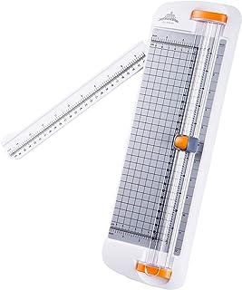 Decdeal A4 آلة ورق مشذب سطح المكتب 12.2 بوصة طول قطع لكتابة ورق ورق ورق ورق مصقول صورة