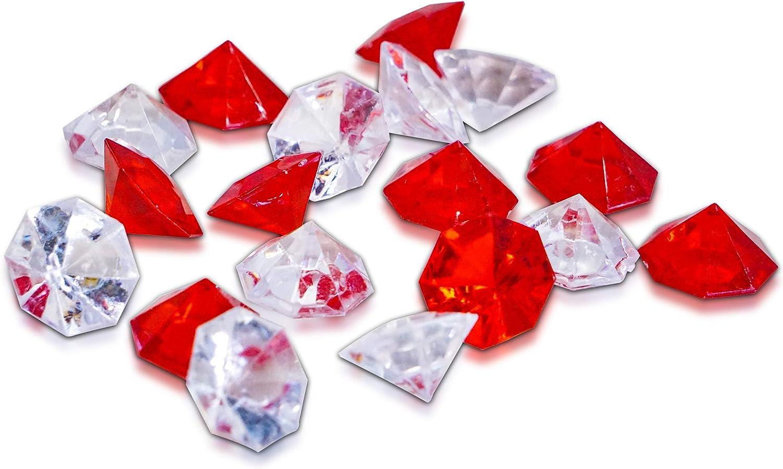 Brynnberg 500 500 500 Deko-Diamanten Größe  30mm Rot und Farblos Mix B07Q5HZ6SY 8d5d22