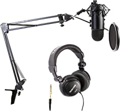 Blue Microphones Blackout Yeti and Assassin's Creed Game Code Bundle with Boom arm, Pop Filter, Shock Mount and Headphones