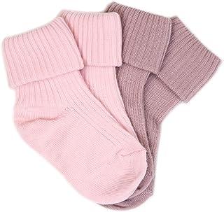 Wool Baby Socks from Woolino, Washable Merino Wool Infant Toddler Kids Socks, Newborn to 6 Years (Pack of 2)