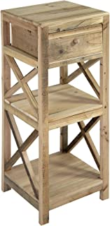 Nature by Kolibri - Mesa con cajón (madera 2 estantes 80 x 30 x 30 cm)