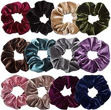 Scrunchies for Hair,12 Pcs Soft Hair Scrunchy Bobbles Elastic Hair Bands Ties Donut Hair Accessories for Women Ponytail Ho...