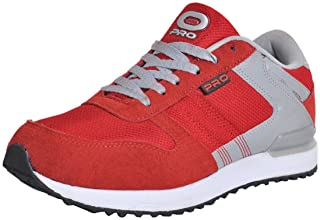 Pro from Khadims Mens Red Faux Leather Dress Sneakers - 7