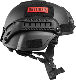 OneTigris サバゲー用ヘルメット 米軍風レプリカ ヘルメット MICH 2000 NVGマウントレール付き ABS製 かっこいい サバゲー装備 保護用 プロテクター