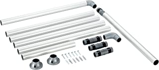 Ruco V 770 - Barra para cortina de ducha (aluminio, diámetro: 25 mm)