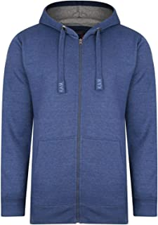 Kam Mens Big and Tall Zip Up Through Hoodies King Size Sweatshirt Heavy Duty Jumper 2XL-8XL Jeans