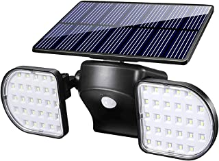 Fitybow Outdoor Solar Lights, 56 LED Solar Powered Wall Light with Motion Sensor Dual Head Landscape Spotlights Waterproof 360° Adjustable Solar Security Light Outdoor for Patio Garden (1Pack)