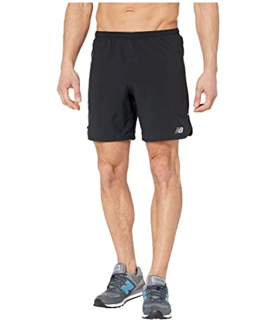 New Balance Impact Run 7-Inch Shorts (Black) Men