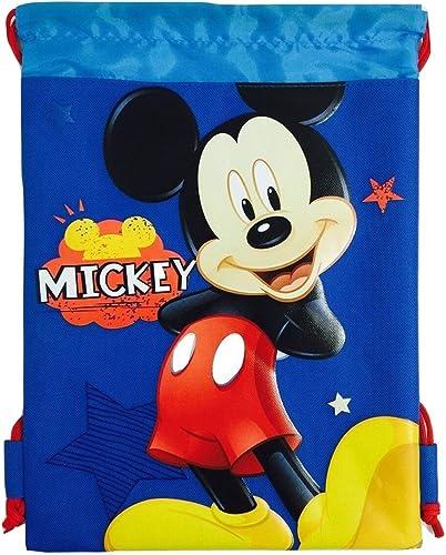 Disney Mickey Mouse Kordelzug String Rucksack Schule Sport Gym Tasche