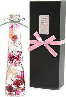 【NICHIFLRO】ニチフロ ハーバリウム 専用BOX付き プレゼント 長持ち 枯れない花 母の日 敬老の日 トールツリー【 ピンク 】