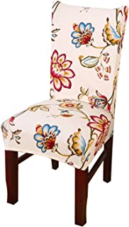Kaariss Stretch Removable Washable Short Dining Chair Protector Cover Slipcover, 02