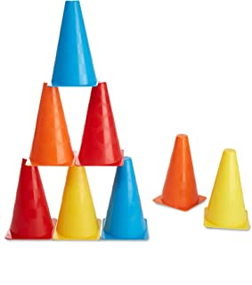 Melissa & Doug 8 Activity Cones (Outdoor Play Equipment,  Great Gift for Girls and Boys - Best for 3, 4, 5,  and 6 Year Olds)