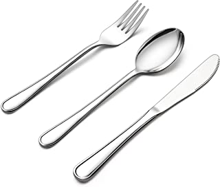 LIANYU 12-Piece Kids Silverware Set, Stainless Steel Toddler Utensils Flatware Set, Child Cutlery Tableware Set for 4, Include Knife/Fork/Spoon, Mirror Finished, Dishwasher Safe