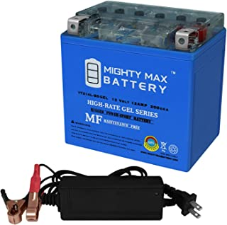 Mighty Max Battery YTX14L-BS Gel Replaces Deka East Penn ETX14L + 12V 2Amp Charger Brand Product