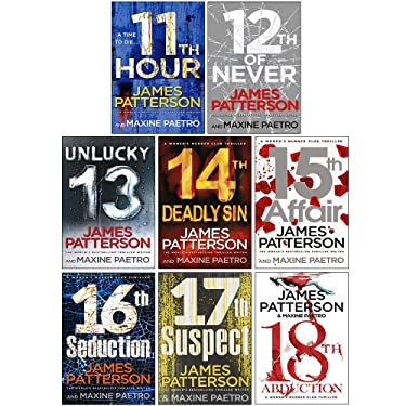 Women's Murder Club Series 11-18 Collection 8 Books Set By James Patterson (11th Hour, 12th of Never, Unlucky 13, 14th Deadly Sin, 15th Affair, 16th Seduction, 17th Suspect, 18th Abduction)