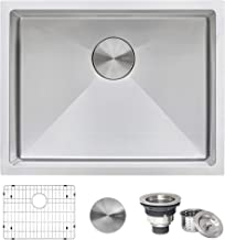 Ruvati 21-inch Undermount Tight Radius 16 Gauge Stainless Steel Bar Prep Kitchen Sink Single Bowl - RVH7121