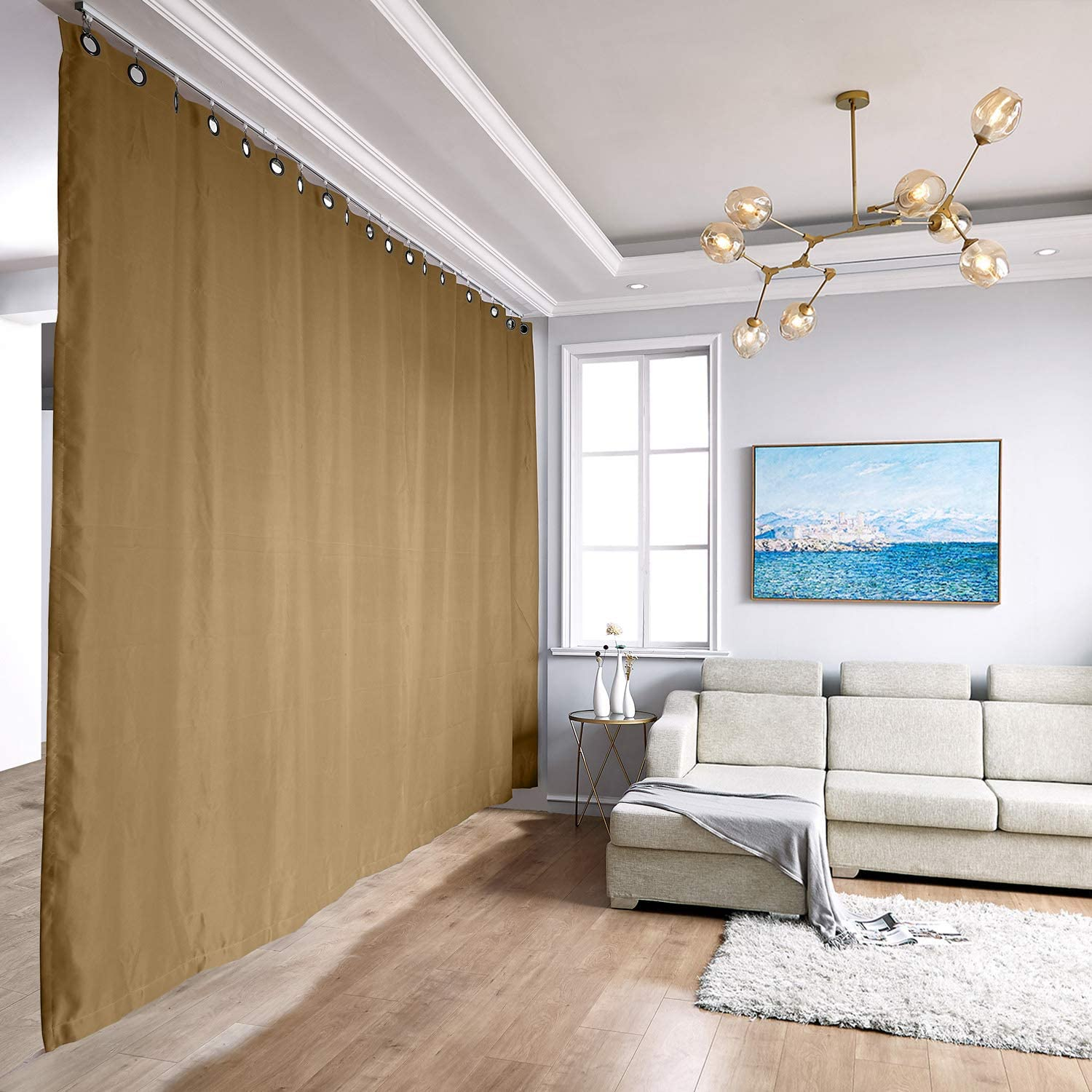 TWOPAGES Room Divider Curtain Memphis Mall Ceiling xx-Large 12f Kit Max 71% OFF A Track