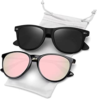 Polarized Sunglasses for Women Men Retro Mirrored Sun...