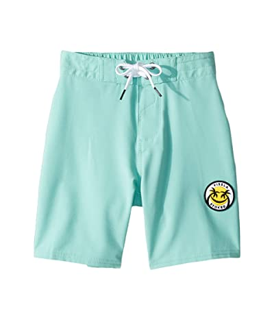 VISSLA Kids Solid Sets Boardshorts (Little Kids) (Light Jade) Boy