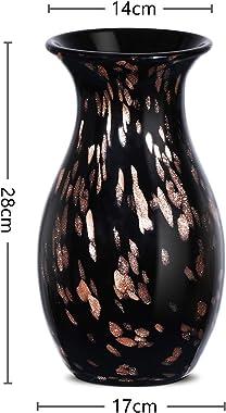 LUSUNT Vasi Anti-Ceramica -28cm Vaso di Fiori Moderno da Interno per Soggiorno/Cucina/Tavolo/Casa/Ufficio, Come Regalo