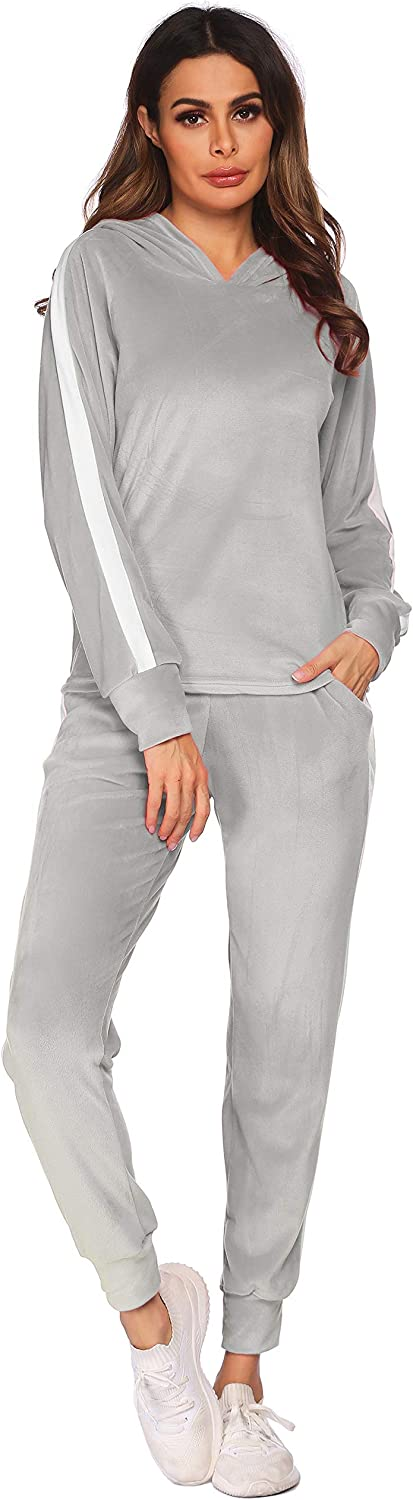 Hotouch Tracksuit Max 46% OFF Sets Womens 2 Pullover Piece Velour Sweatsuits Max 82% OFF